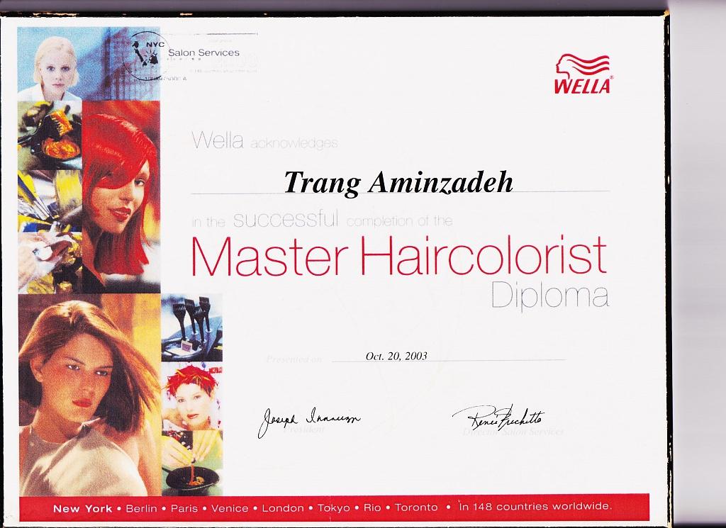 Certification: Master Colorist
