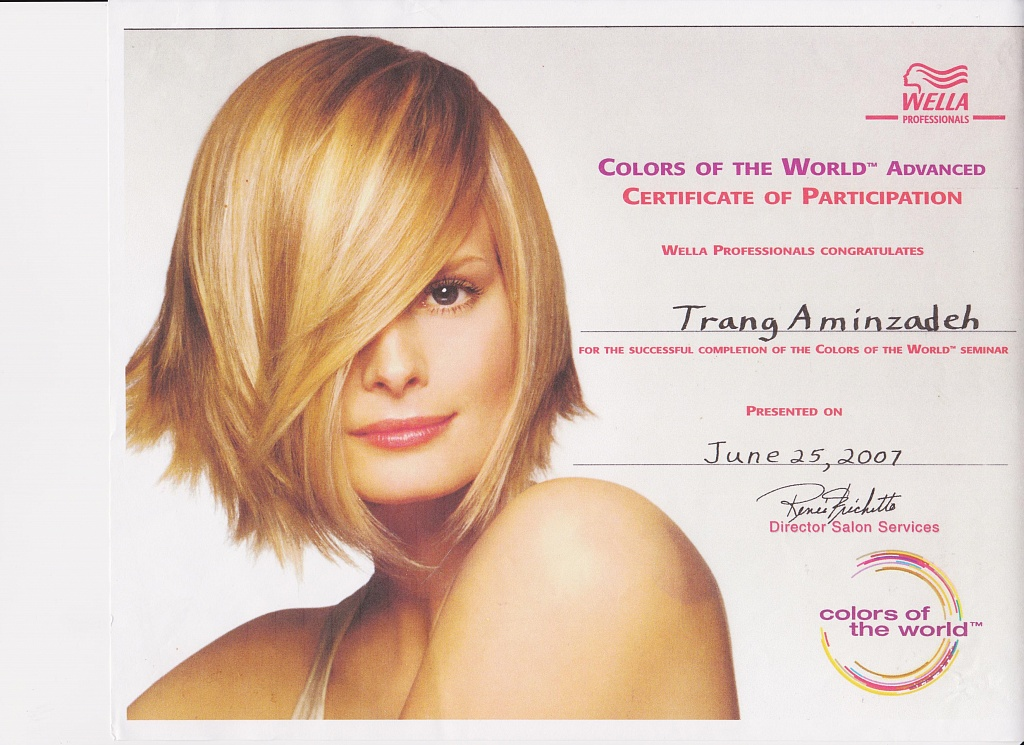 Certification: Wella Colors of the World