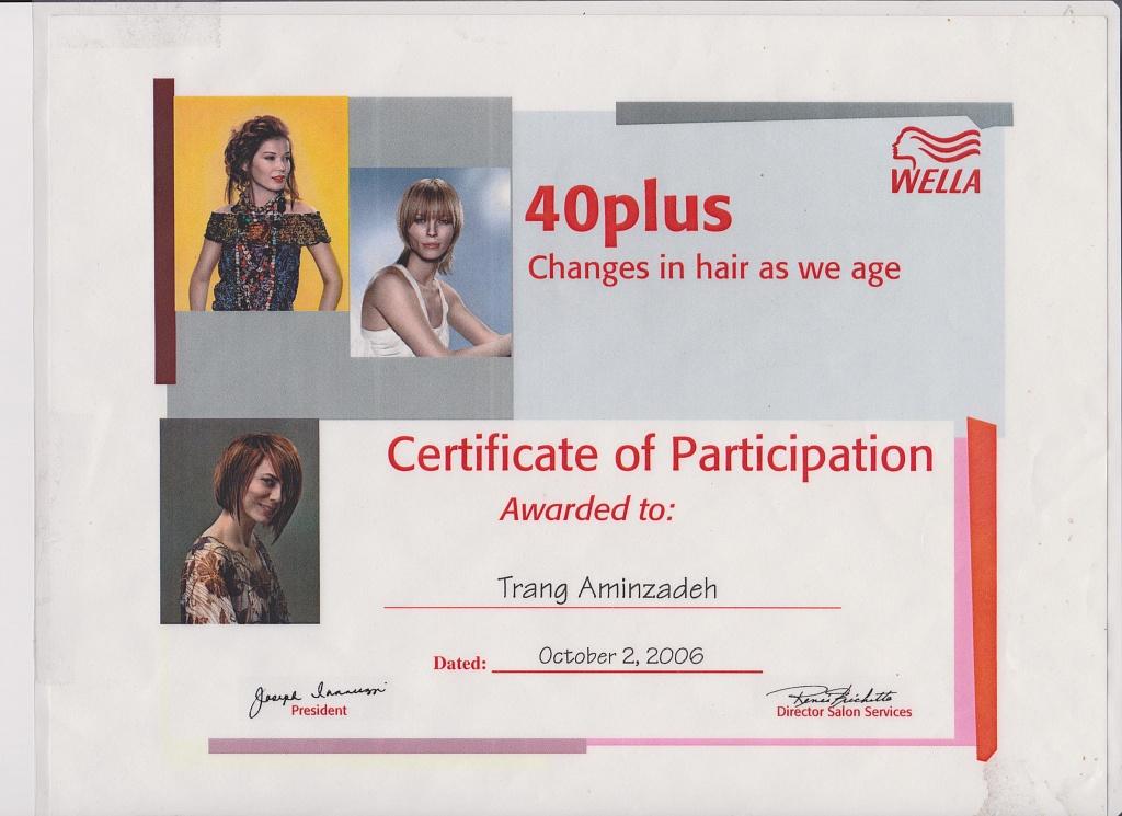 Certification: 40 Plus